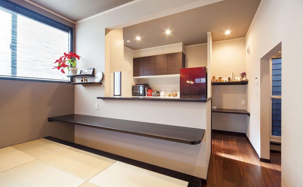 46.3坪の家の内観(キッチン)