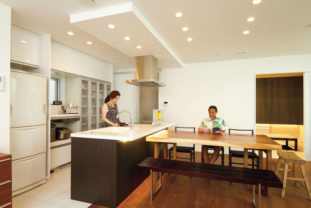 72.9坪の家の内観(キッチン)