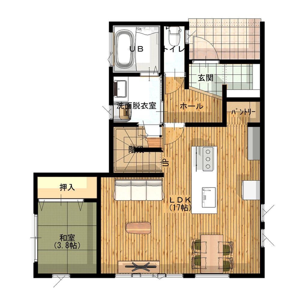31.9坪の家の間取り図