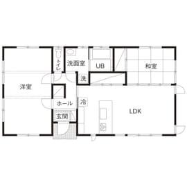 24.0坪の家の間取り図