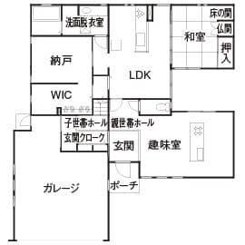 68.8坪の家の間取り図