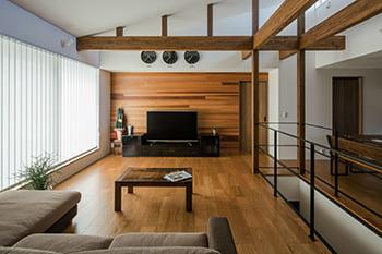 注文住宅で4000万円台の家の内観(リビング)