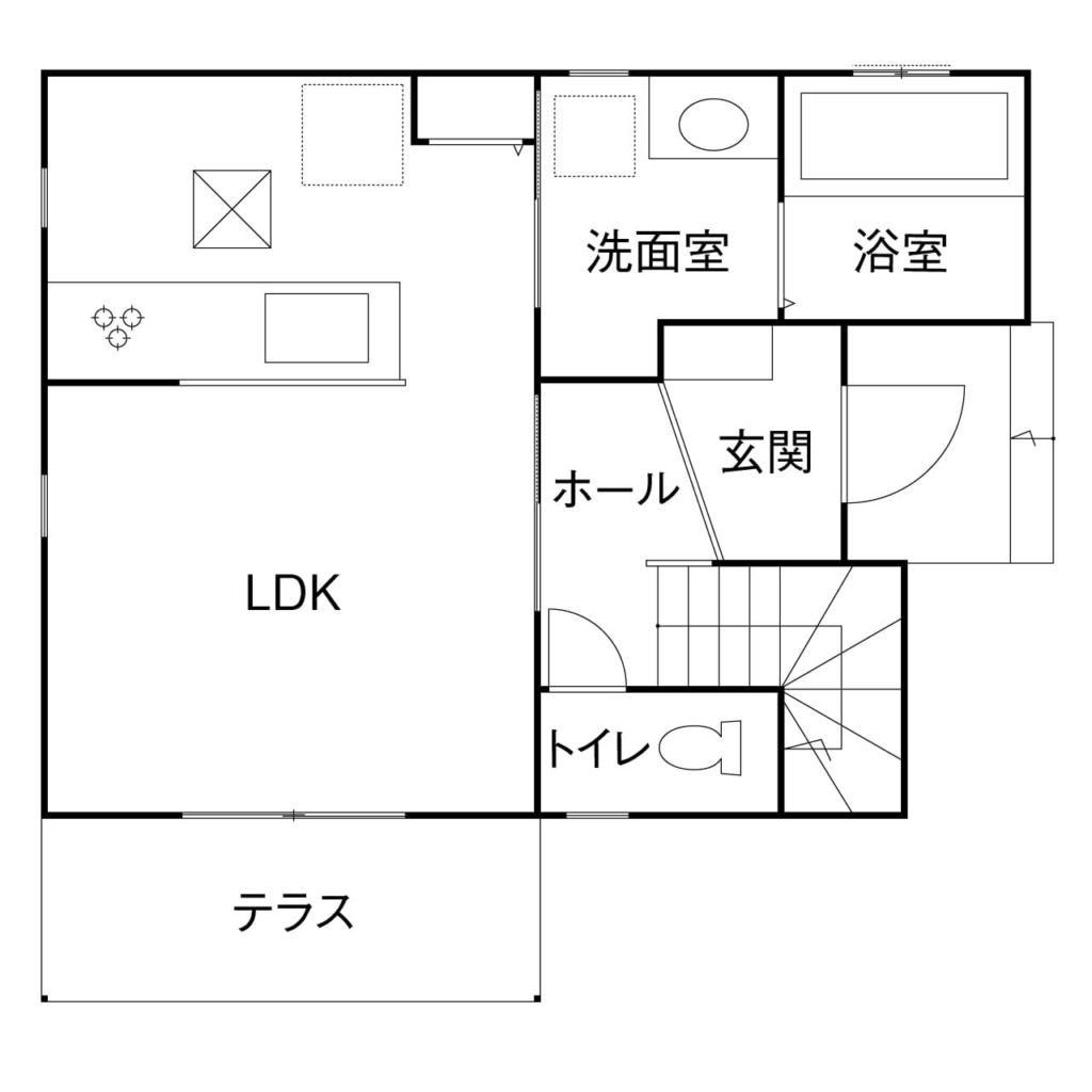1,314万円の家の間取り図