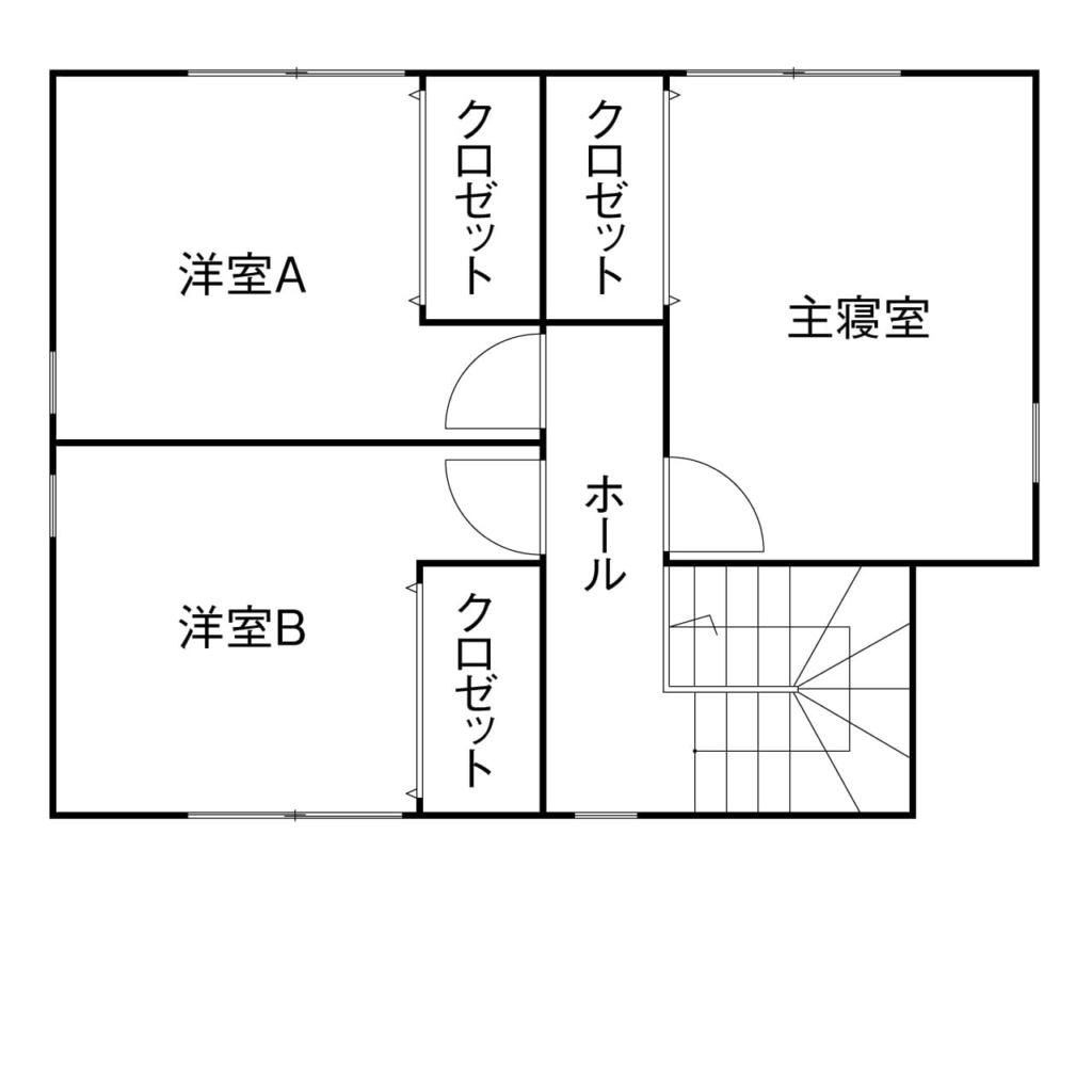 22.2坪の家の間取り図