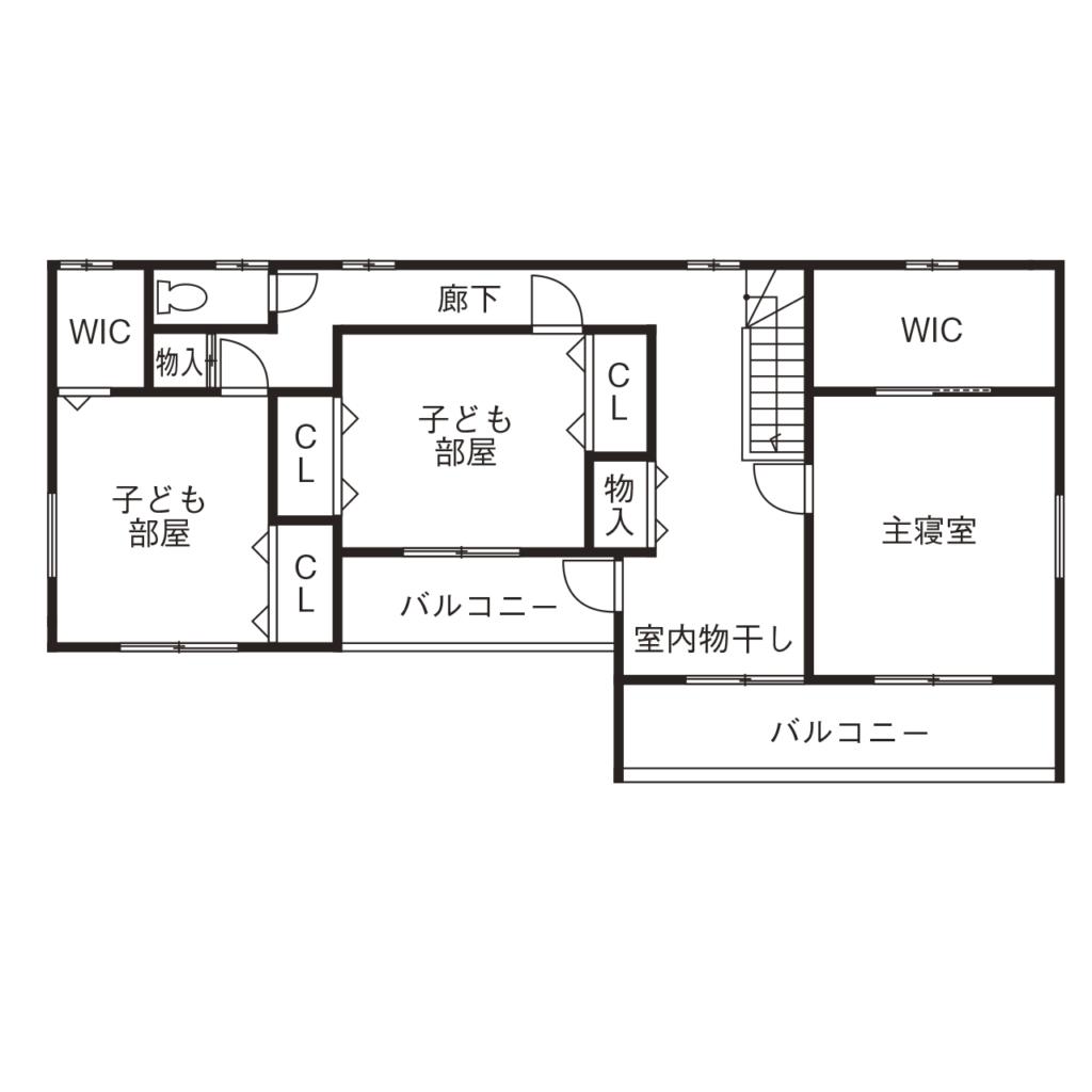 53.0坪の家の間取り図