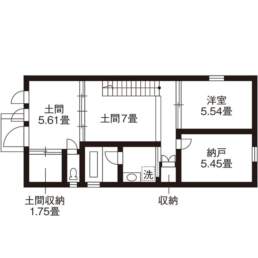 33.0坪の家の間取り図
