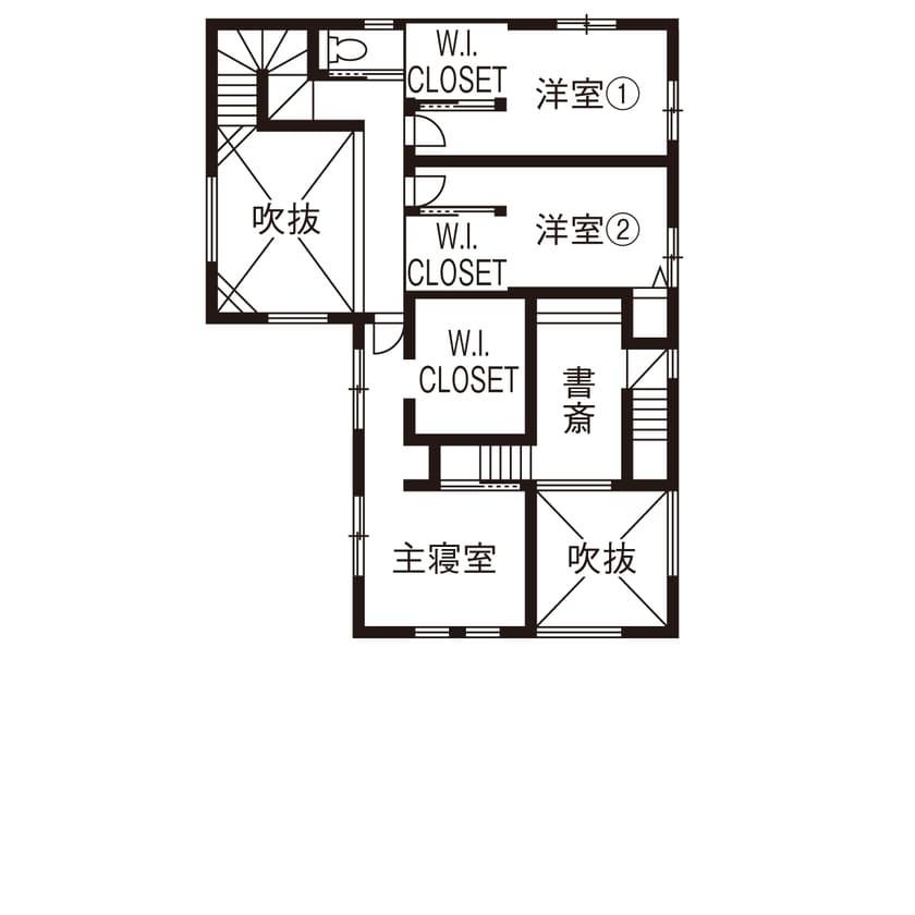 71.5坪の家の間取り図