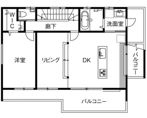 ローコスト住宅の間取り図