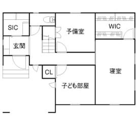 本体価格1414万円の家