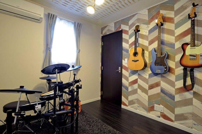 3階建ての家の趣味室