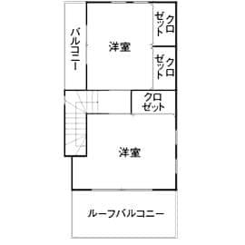 狭小地のガレージハウスの間取り図(3階)