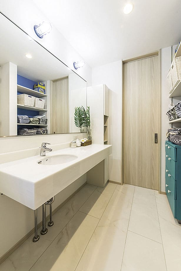 洗面室(20坪台平屋ローコスト)