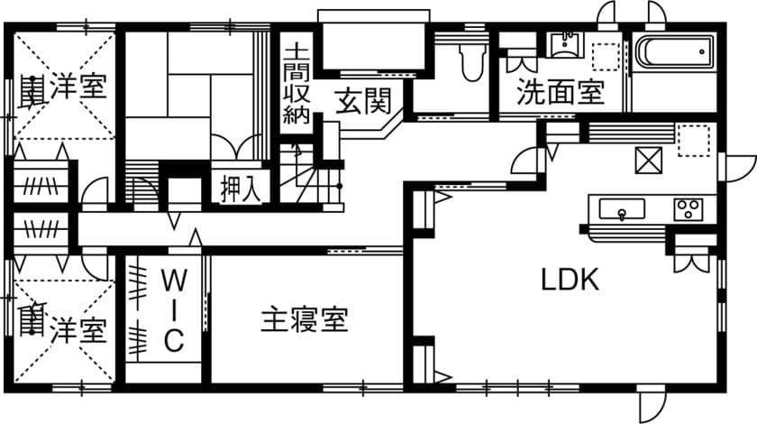 1階 間取り図(4LDK)