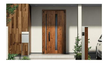 タマホームの大地の家の玄関ドア