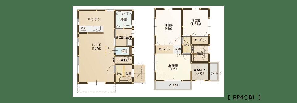 コミコミ800万円台の家(ジャストハウス『24坪タイプ』)